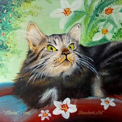 Minou  Oil on Canvas  by BluedarkArt