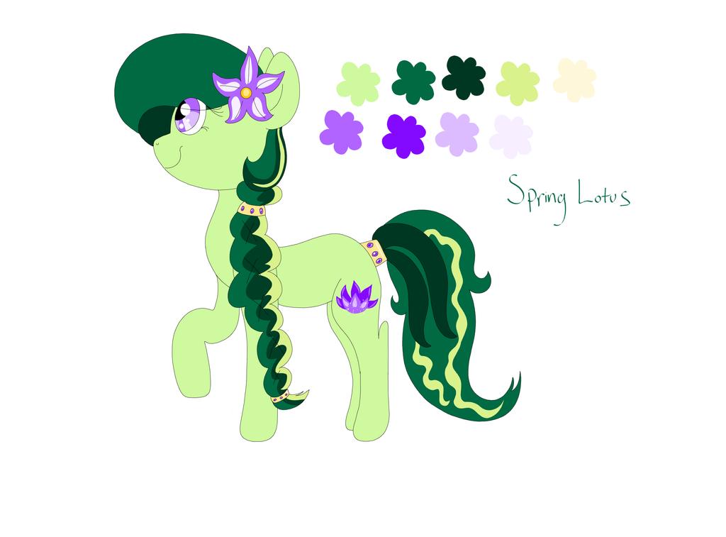 .:New pony OC- Spring Lotus:. by Siyamese