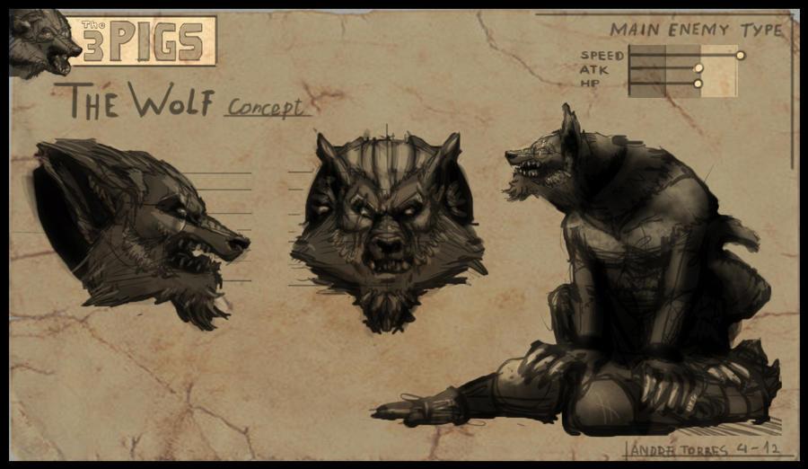 skyrim werewolf concept art
