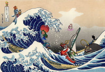 Great Wave on the Great Sea