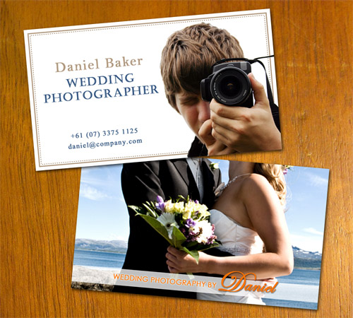 Wedding Photo Business Card by danbradster