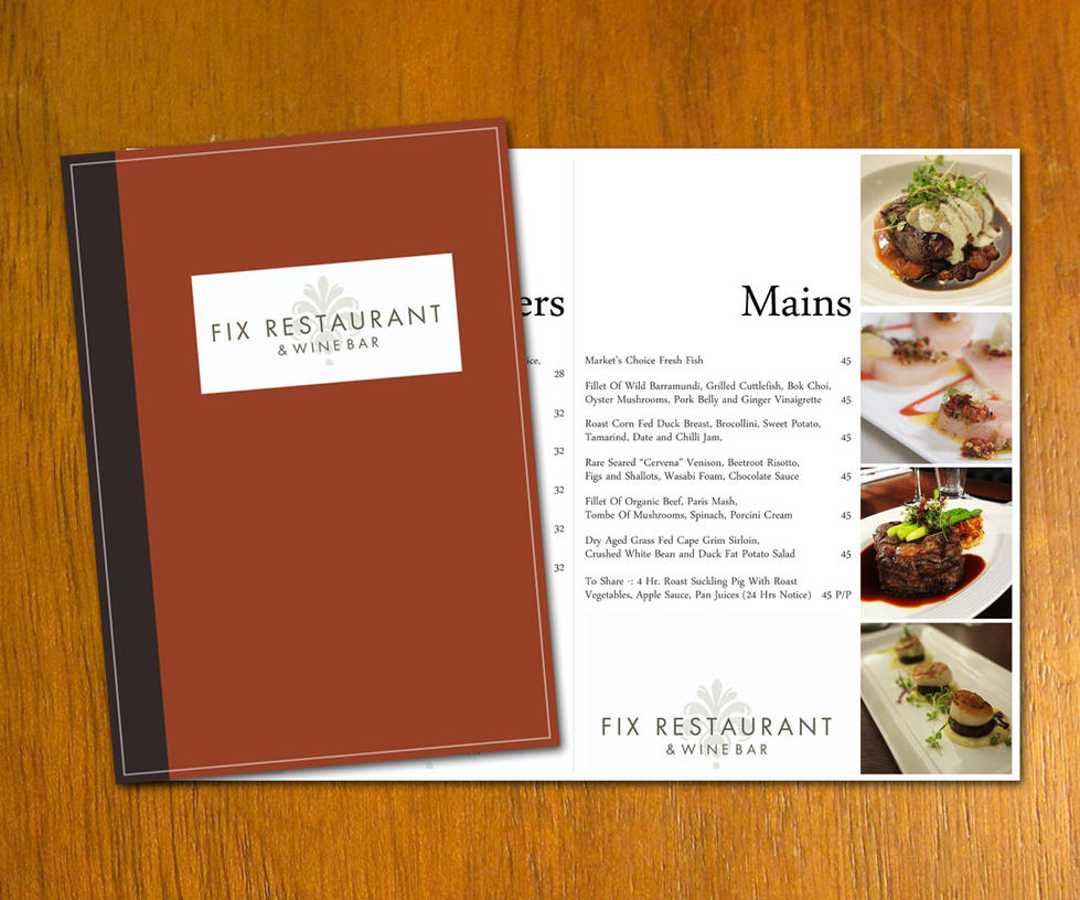 Restaurant menu template by danbradster on deviantart for Artistic cuisine menu