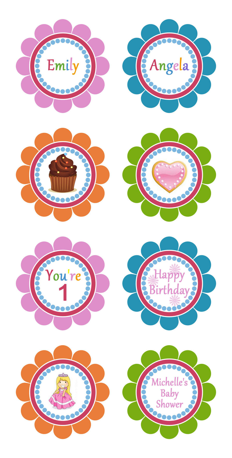 Cupcake Toppers Template by danbradster on DeviantArt