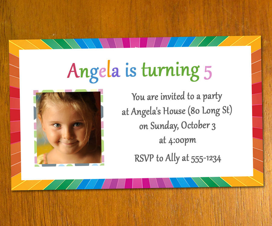 Email Birthday Invitation Template - Birthday invitation card format word
