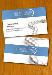 Pearl Jewelry Business Card Template