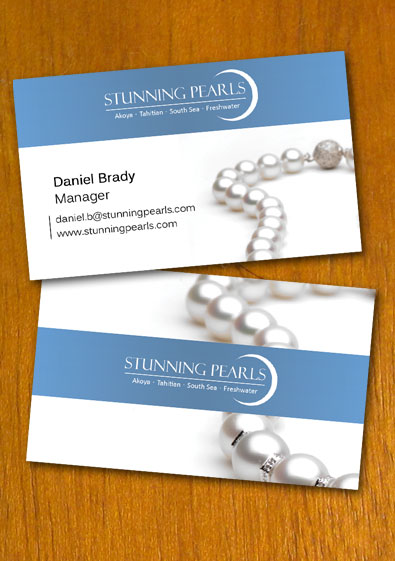 pearl jewelry business card templatedanbradster on