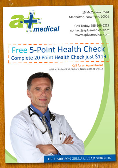 doctor clinic flyer template by danbradster