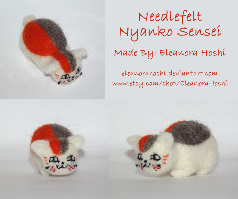Needle Felted Figurine - Nyanko Sensei - 01 by EleanoraHoshi