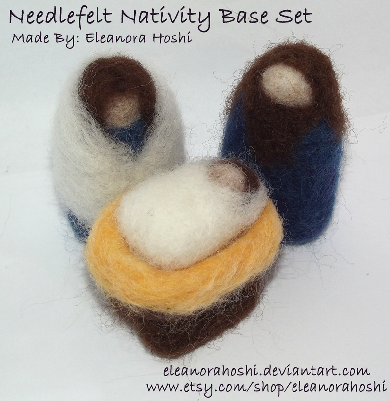 Needle Felted Nativity - Base Set - 01 by EleanoraHoshi