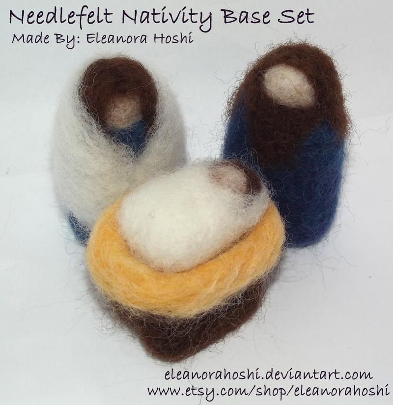 Needle Felted Nativity - Base Set - 01 by EleanoraHoshi
