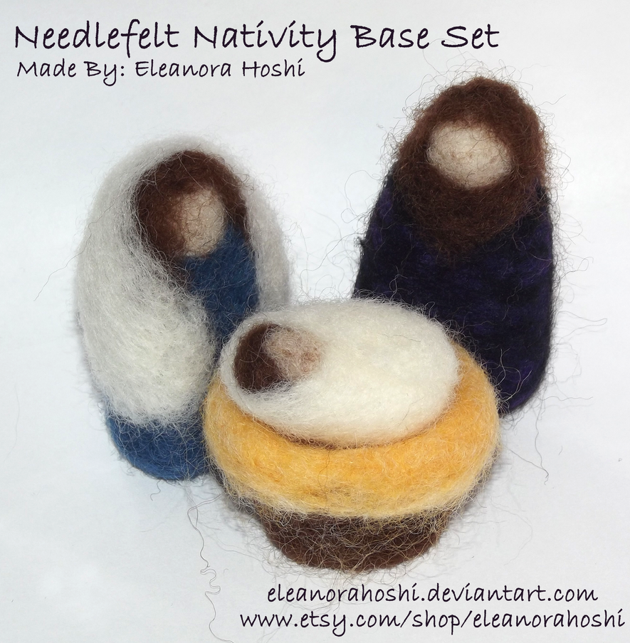 Needle Felted Nativity - Base Set - 02 by EleanoraHoshi