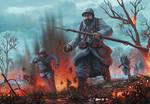 Poilus under fire