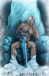 Arthas Pinup: Warcraft by AzurSky