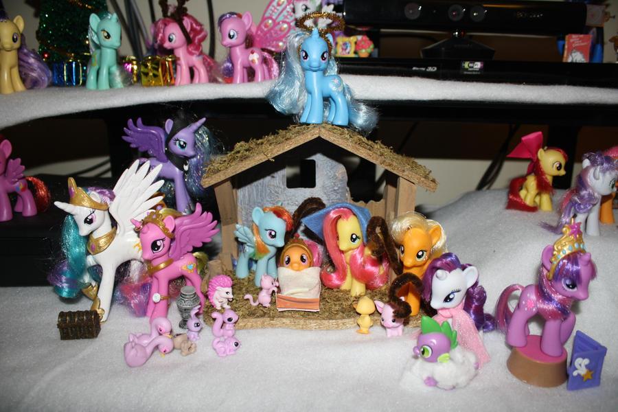 A Pony Nativity Scene