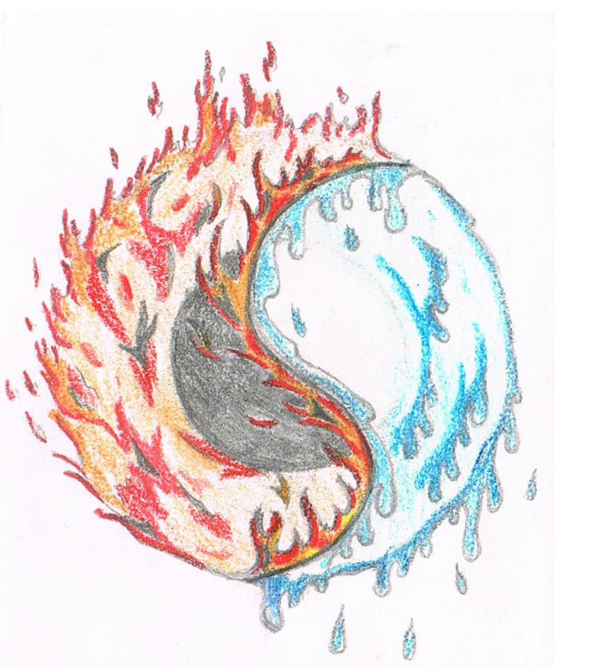 Fire water yin yang by realvisioon on deviantart for Fire and ice tattoo shop