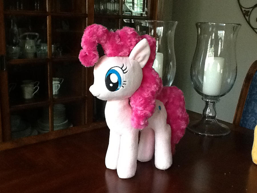 Curly Minky Pinkie Pie plush by GreenTeaCreations