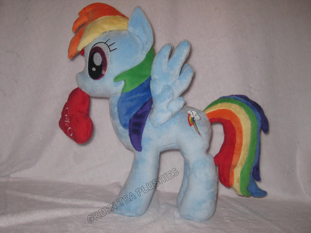 Rainbow Dash Plush with updated mane and tail by GreenTeaCreations