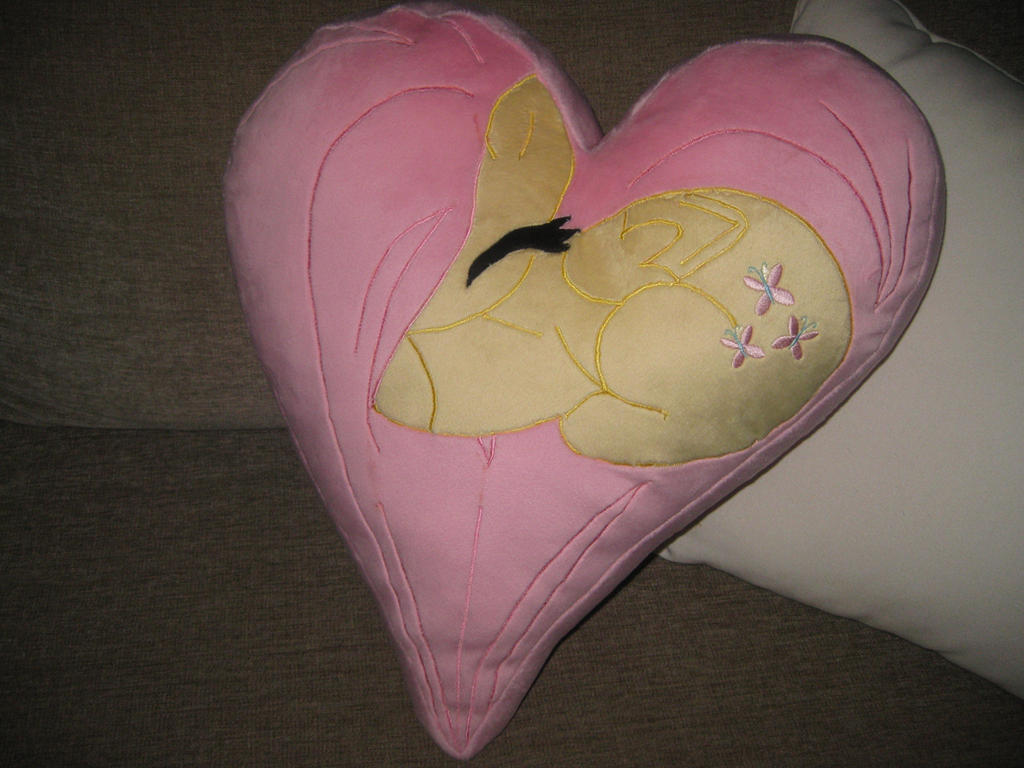 Fluttershy Plush Heart Pillow by GreenTeaCreations