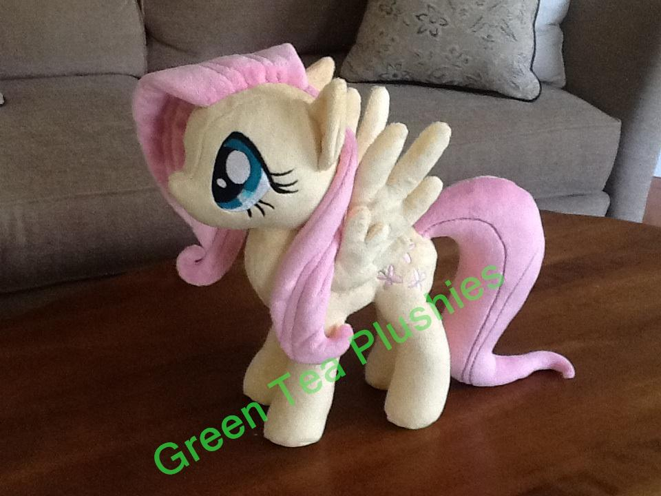 Fluttershy Plush - Mane held in place with magnets by GreenTeaCreations