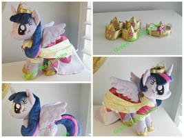 Princess/Alicorn Twilight Plush - coronation dress by GreenTeaCreations