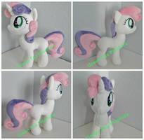 Sweetie Belle plush by GreenTeaCreations