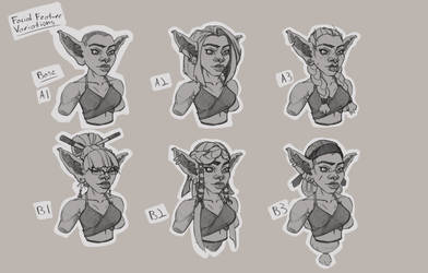 Goblin Rogue Design Face Variations by tfZanben