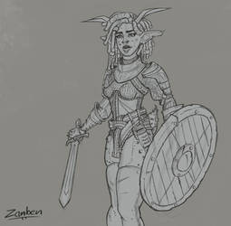 Azura Planestrider Sketch by tfZanben