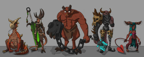 Demon Character Design Doodles by tfZanben