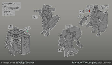 Renaldo the Undying Sketches by tfZanben