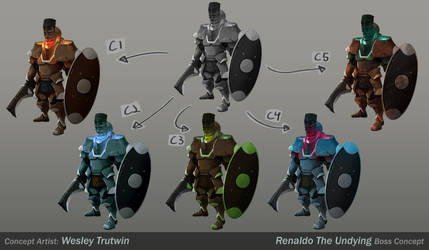 Renaldo the Undying Color Variations by tfZanben