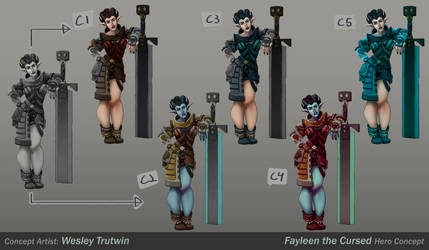 Fayleen the Cursed Color Variations by tfZanben