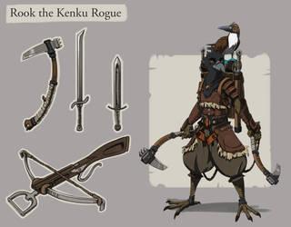 Rook the Kenku Rogue by tfZanben