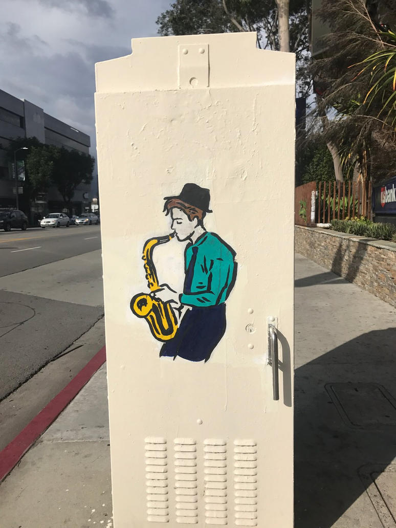 Sax Player by ABigBlueBalloon