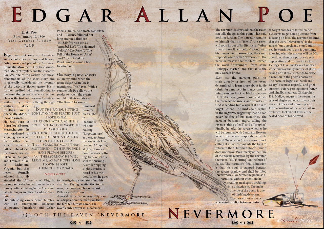 an analysis of edgar allan poes poem the raven Complete collection of poems by edgar allan poe: the raven, alone, annabel lee, the bells, eldorado, ulalume and more.