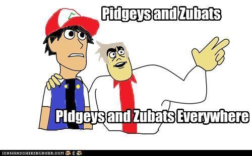 Pidgeys and Zubats Everywhere by FunnyDank