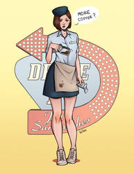 Drive In - Jill Valentine by redclaireart