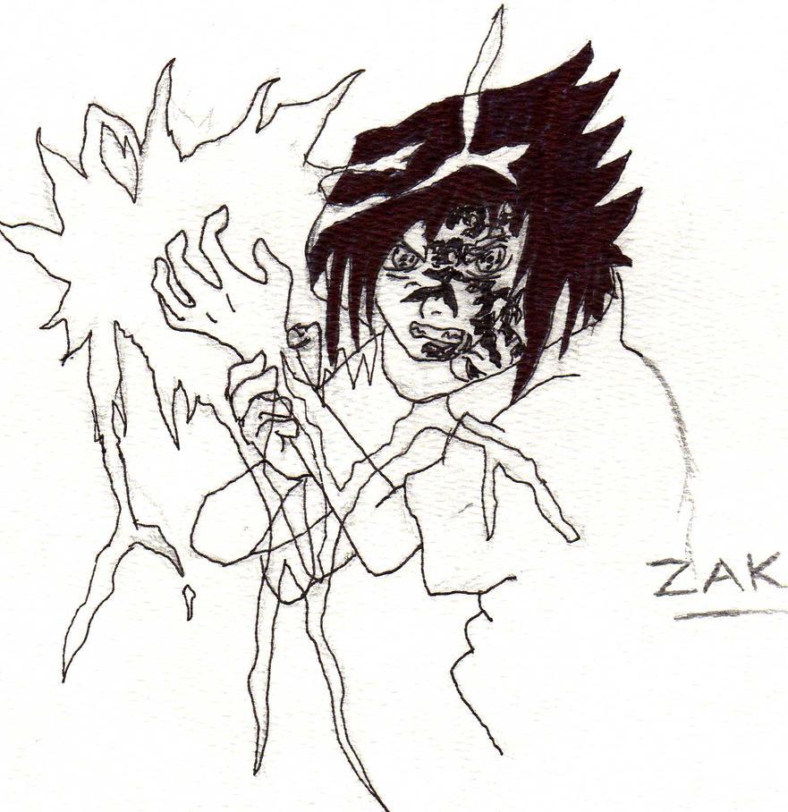 Sasuke - chidori by Mariofan34 on DeviantArt