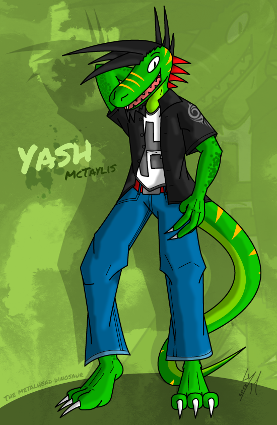 Yash McTaylis, the metalhead raptor by McTaylis