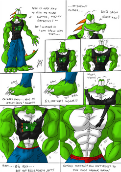 Dino tests his clothes (digital) - 1/2