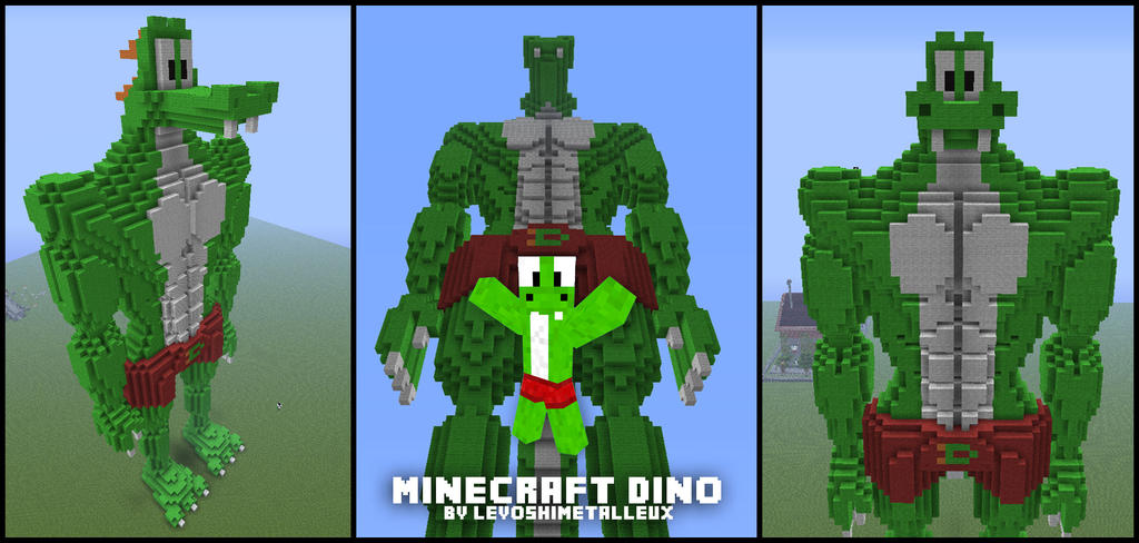 how to build a small dinosaur in minecraft