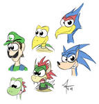 Some games characters headshots