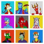 9 friends' OCs in my style