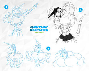 Monthly Sketches - March 2019 by McTaylis