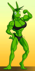 Commission - Vera's Hulk form by McTaylis