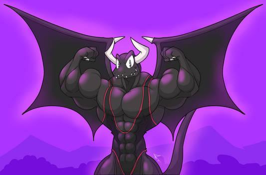 Dragaux, the bodybuilder dragon
