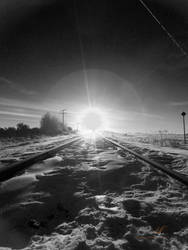 Sun Rise Over The Rails by Sybaristail