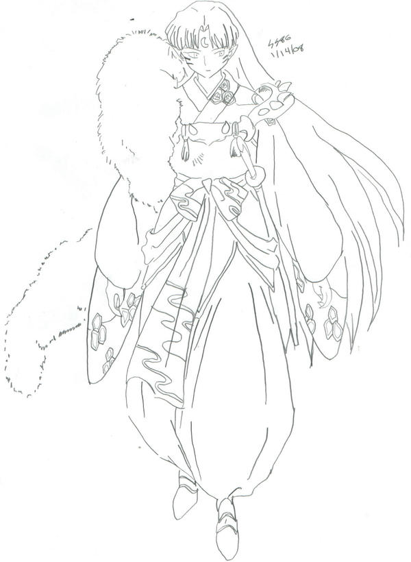 sesshoumaru coloring pages - photo#15