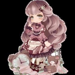 Purple Chocolate Girl by Rosemoji