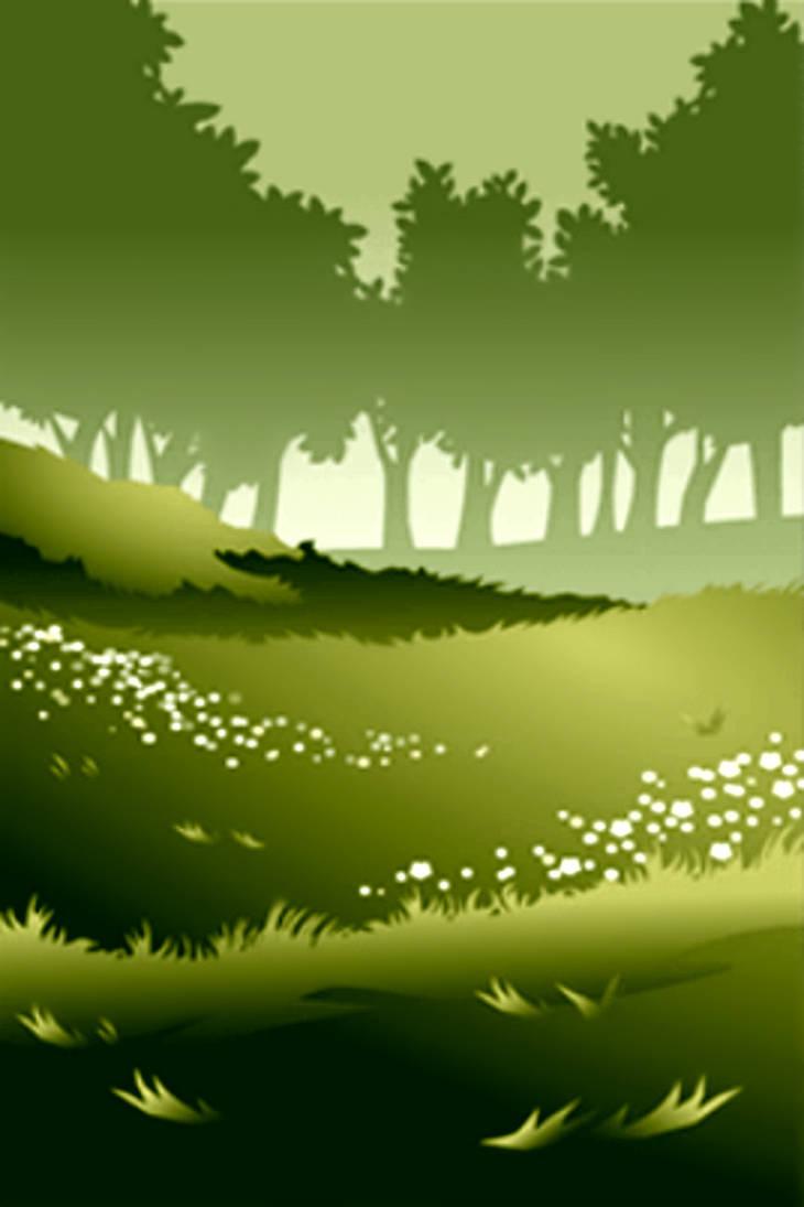 Green Wind in Grassland by Rosemoji