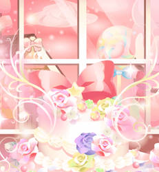 Floral Fruit Cake by Rosemoji